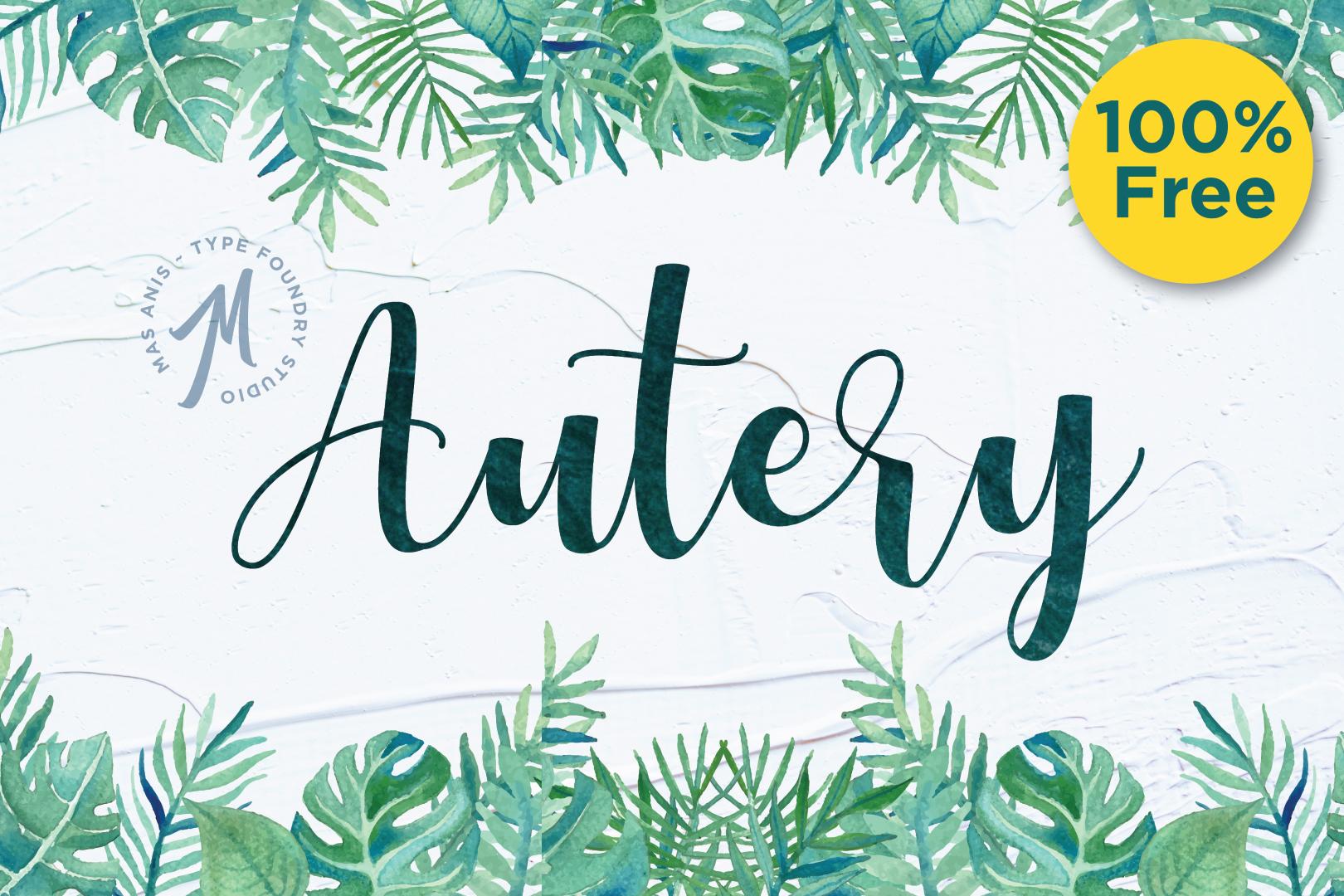 Autery Script Free Font