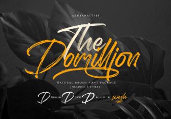 Domillion Brush Font Free