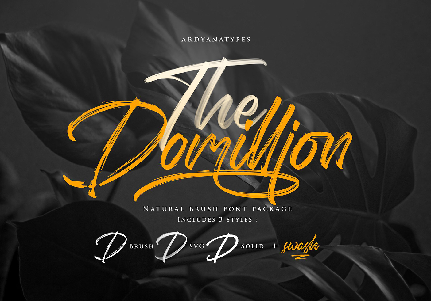 Domillion Brush Font Free