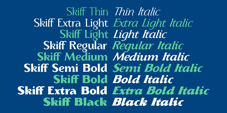 Skiff Free Regular Font