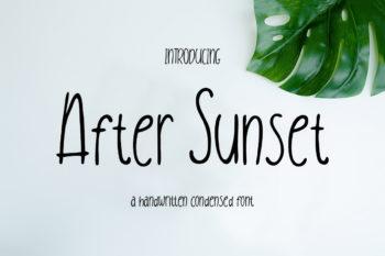 After Sunset Handwritten Condensed Font