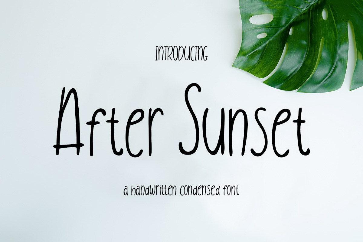 After Sunset Handwritten Condensed Font