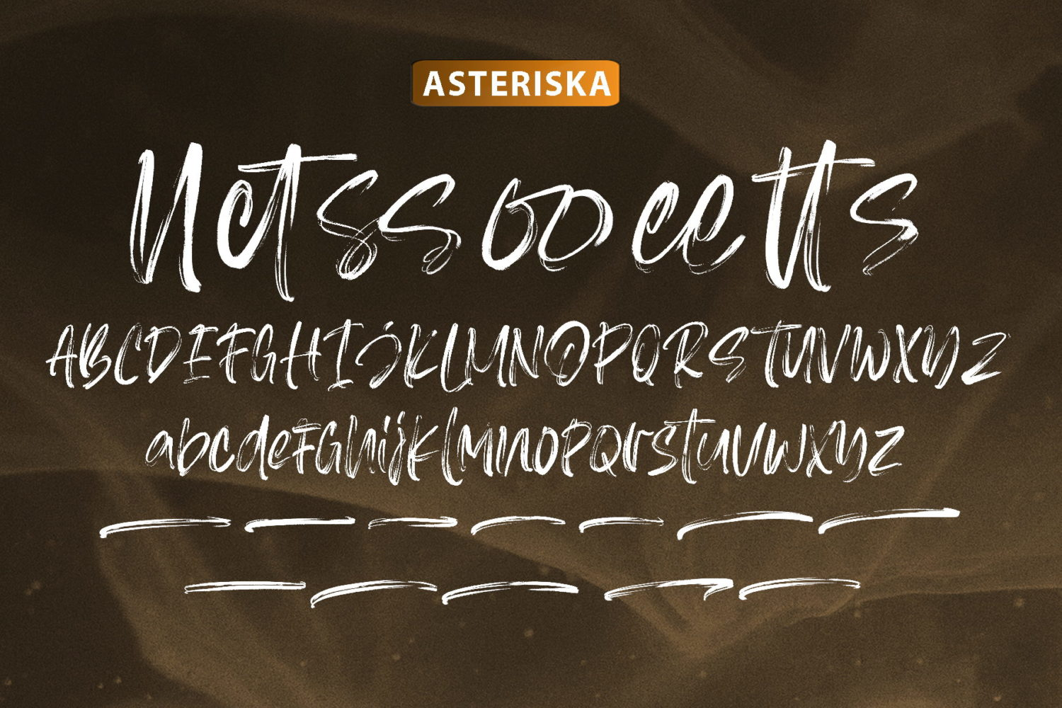 Asteriska Brush Font