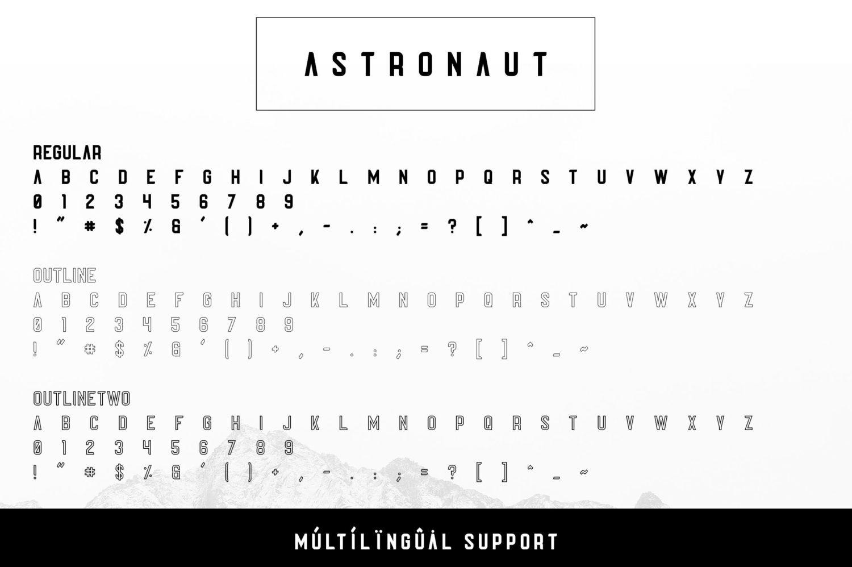 Astronaut Free Font