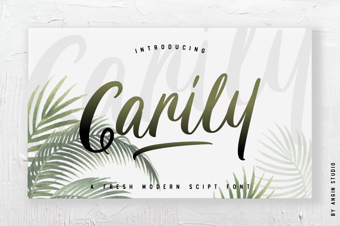 Carily Brush Font