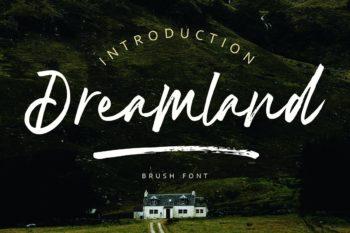 Dreamland Brush Font Free Demo