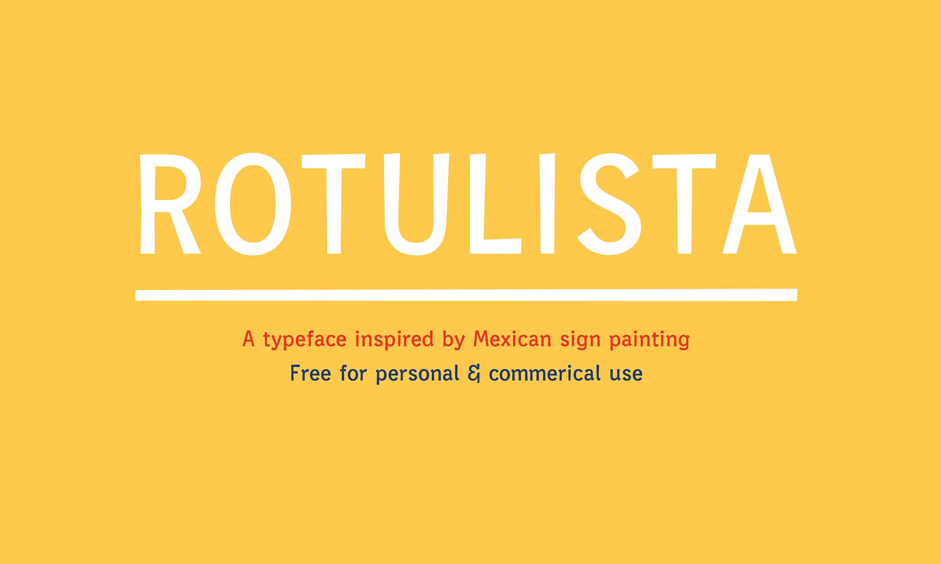 Free Rotulista Font