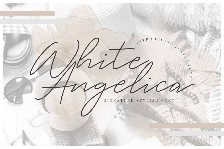 Free White Angelica Signature Font