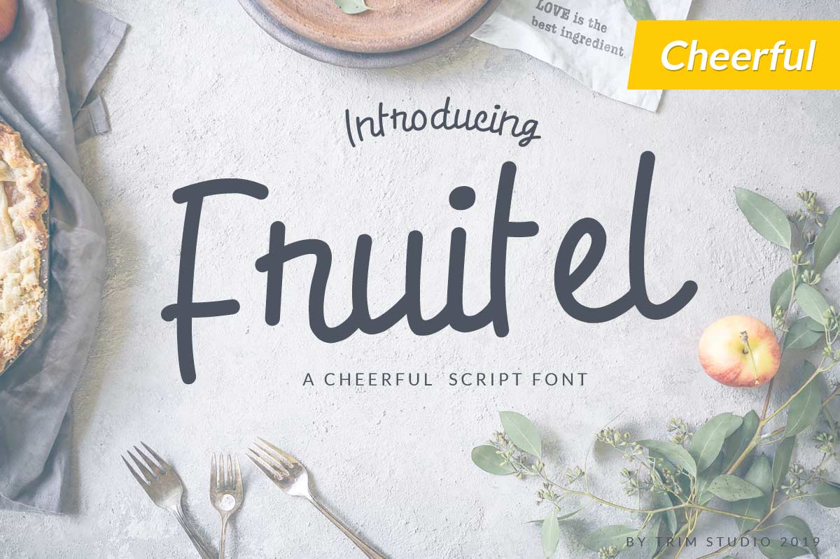 Fruitel Cheerful Script Font