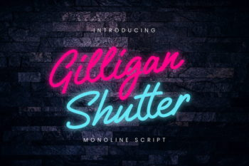 Gilligan Shutter Monoline Script Font