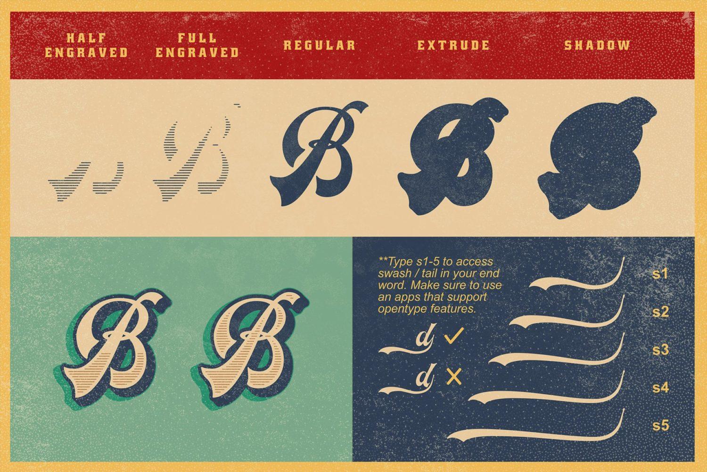 Headster Vintage Free Font Demo