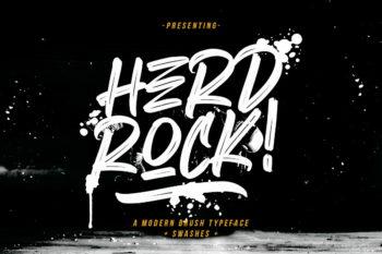Herdrock – Free Brush Font