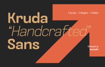 Kruda Sans Serif Demo Font