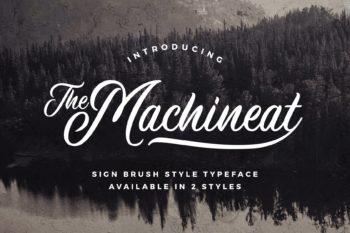 Machineat Font Demo