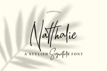 Natthalie Signature Font