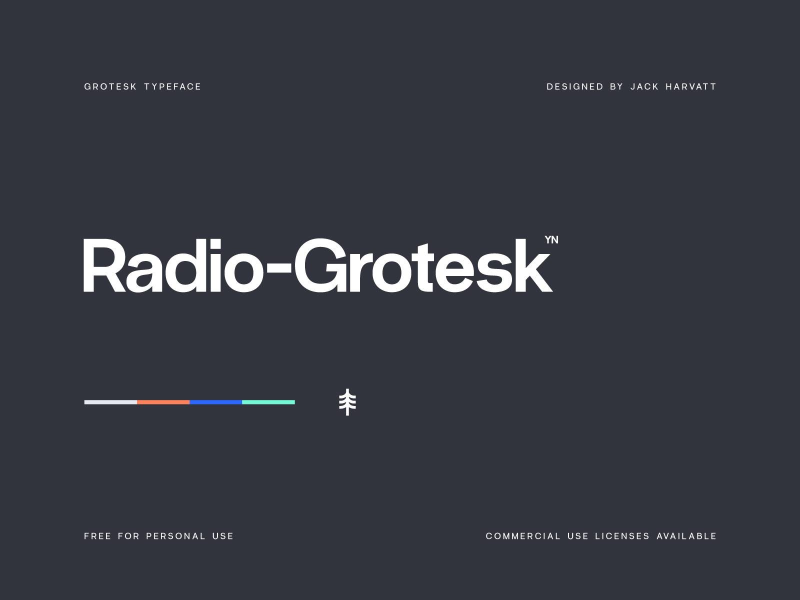 Radio-Grotesk Free Font