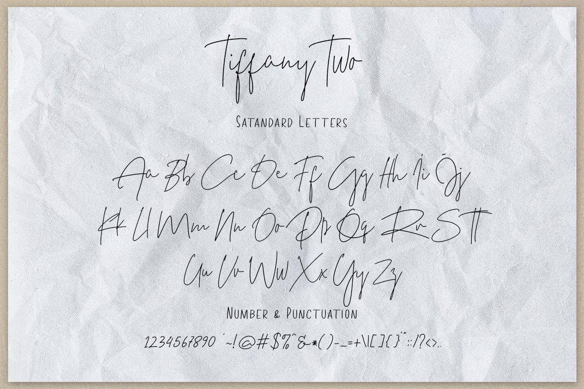 Tiffany Script Free Font Demo