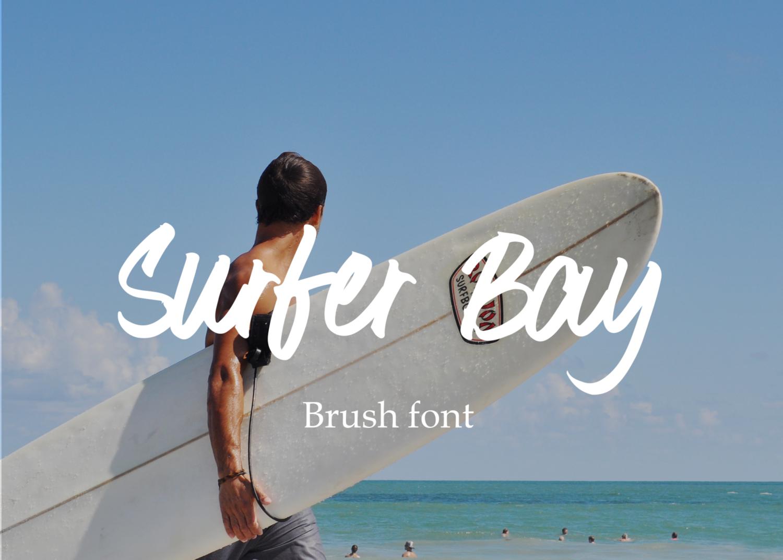 Surfer Bay Free Brush Font