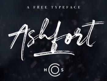 Free Ashfort Brush Font