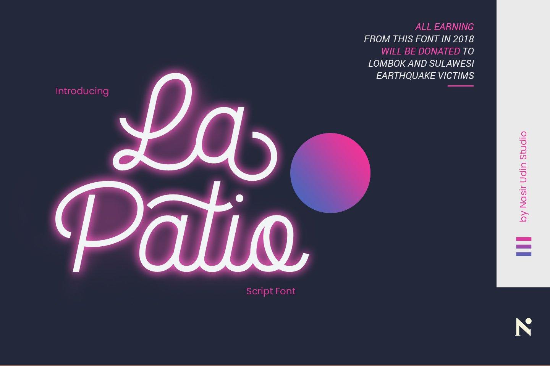 La Patio Script Free Demo Font