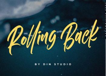 Rolling Back Font