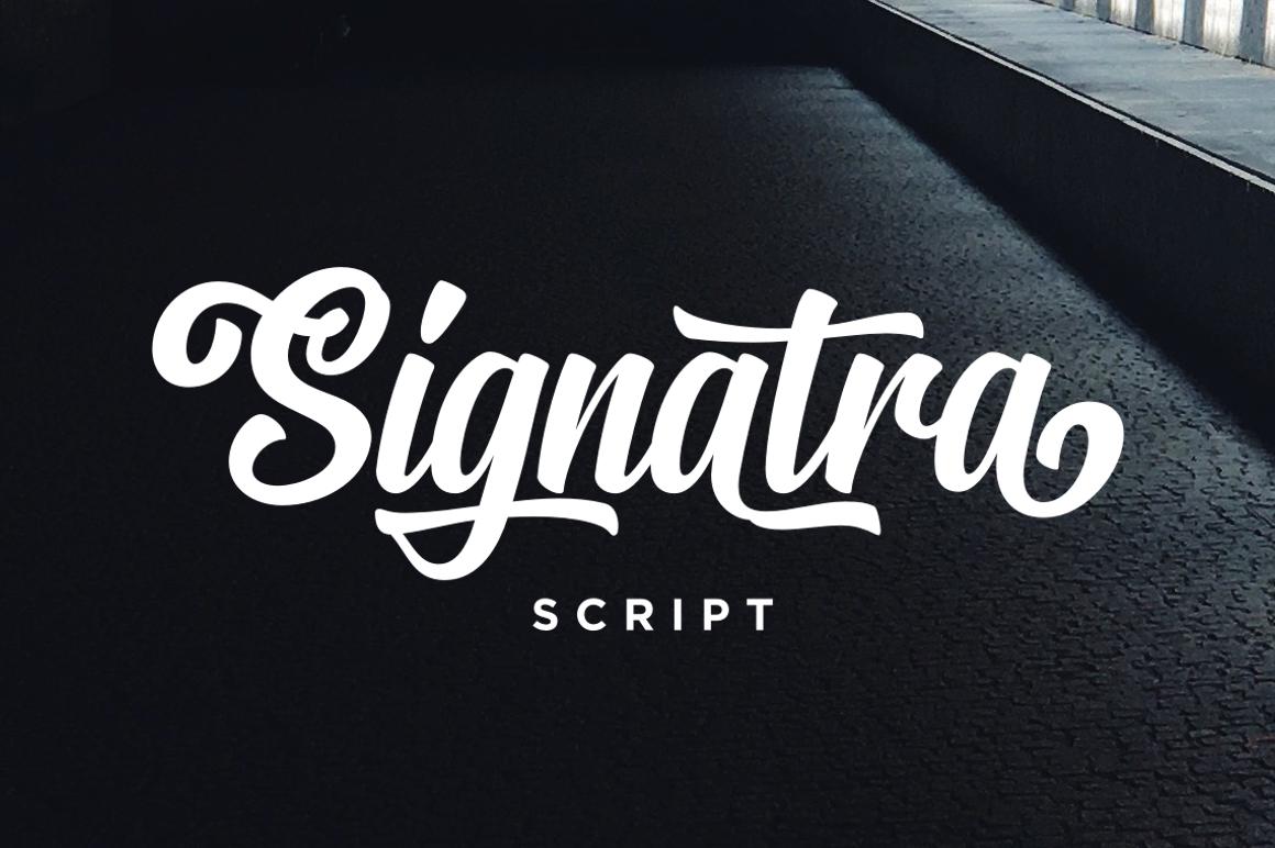 Signatra Free Font Demo