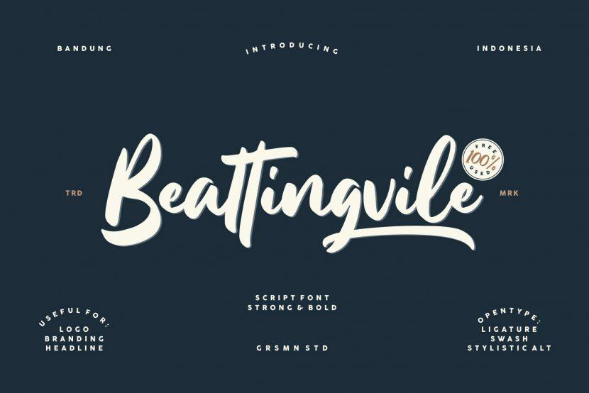 Beattingvile Script Free Font