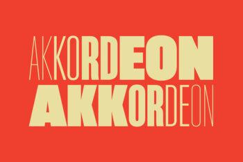 Akkordeon Font Family Demo