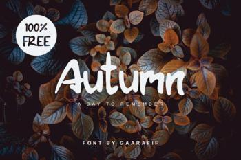 Autumn Free Display Font