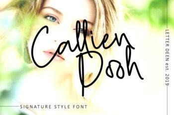 Callien Pooh Handlettering Font