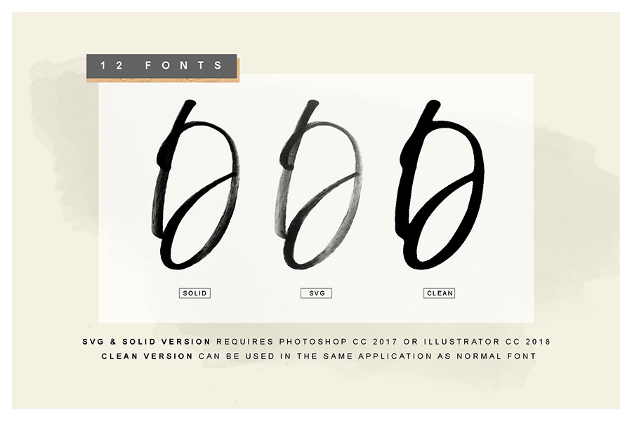 Display Signature Brush Font