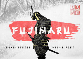Fujimaru Brush Display Font