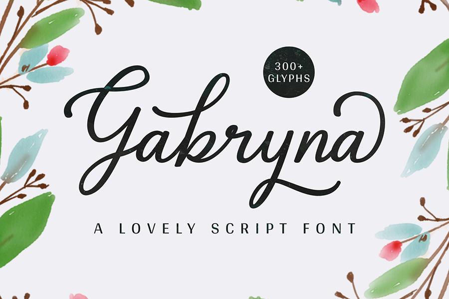 Gabryna Script Free Demo