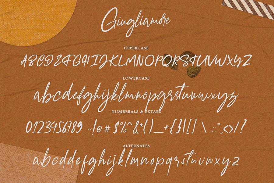 Giugliamore Handwriting Script