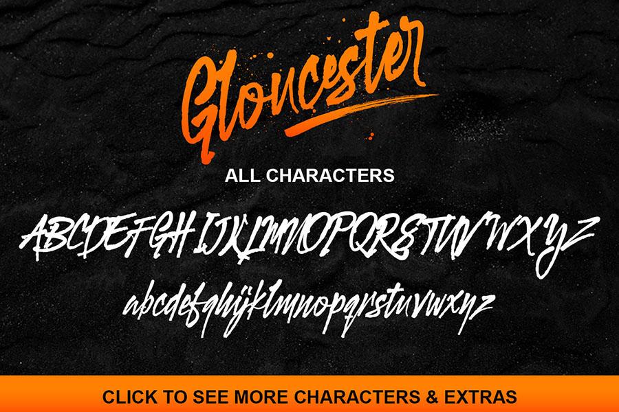 Gloucester Brush Script Demo