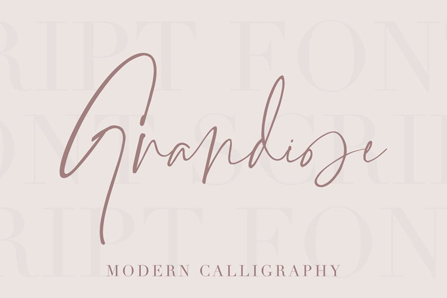 Grandiose Stylish Signature Font