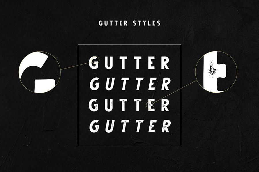 Gutter Handdrawn Vintage Font