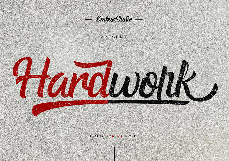 Hardwork Bold Script Font