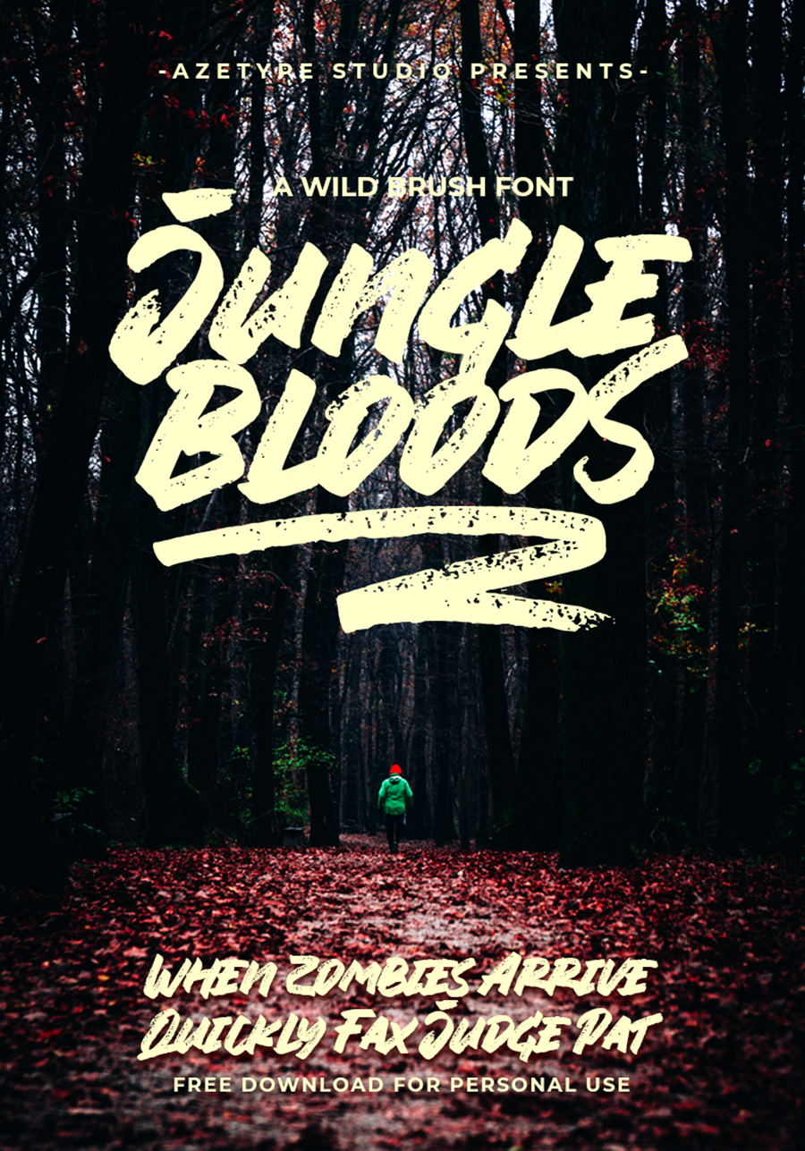 Jungle Blood Handlettering