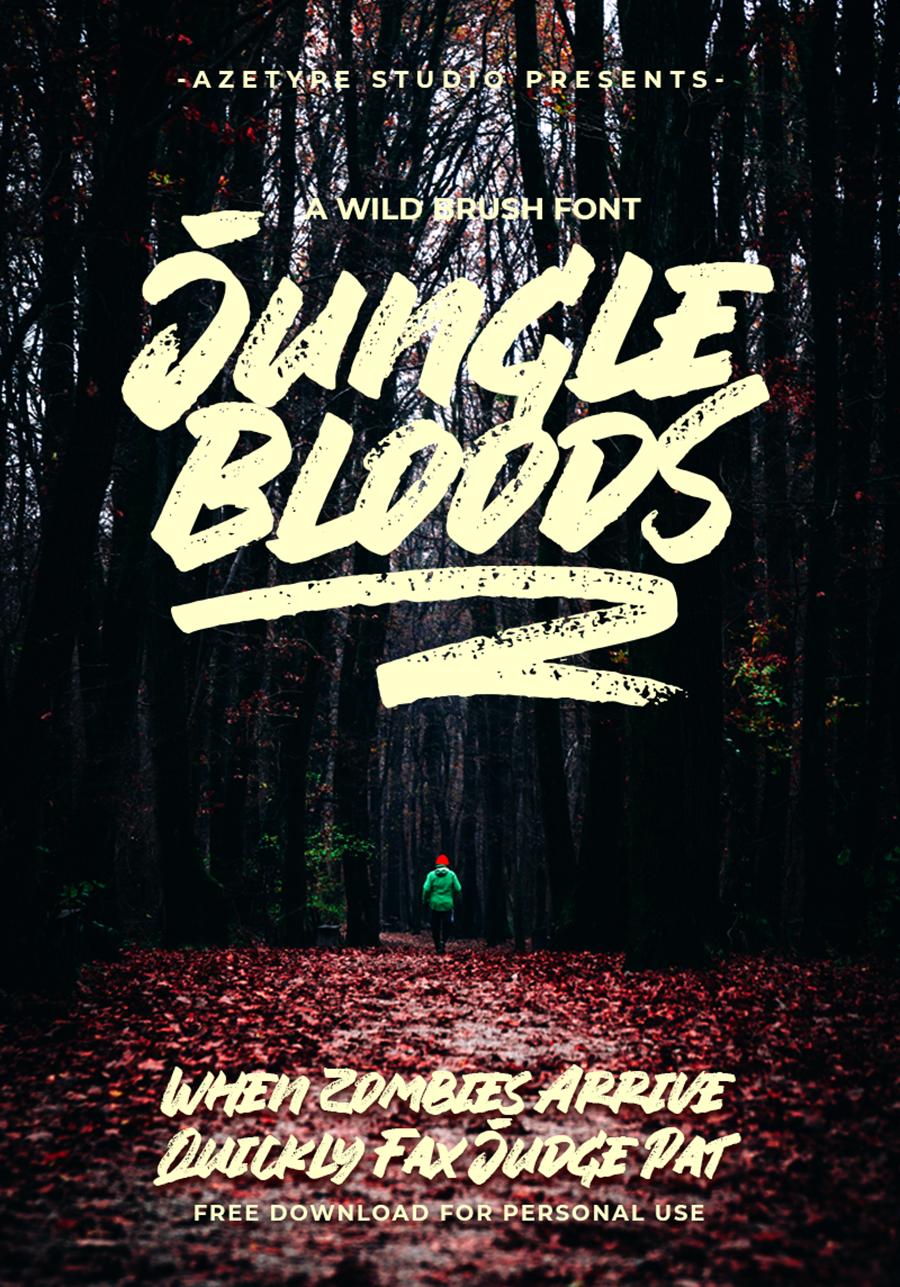 Jungle Blood Handlettering