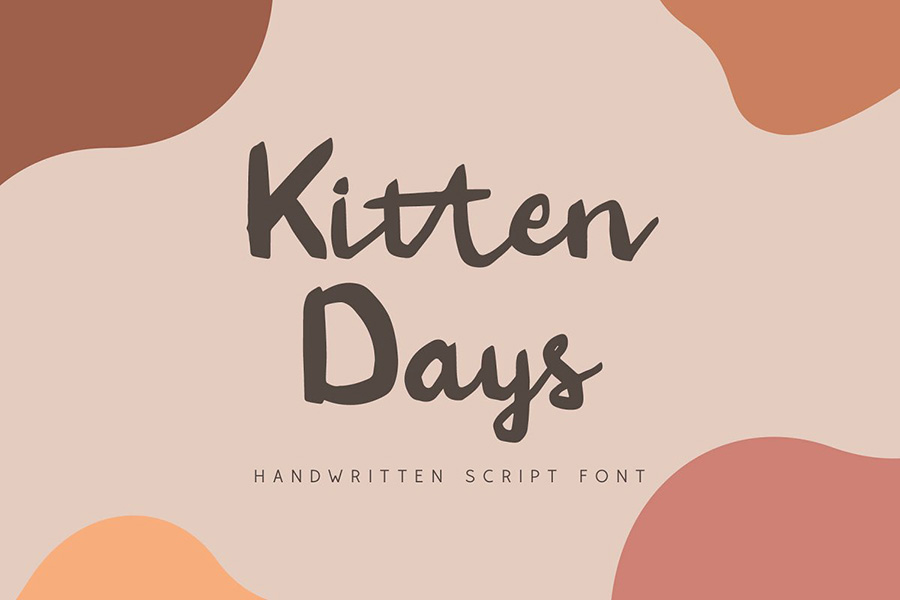 Kitten Days Handwriting Font