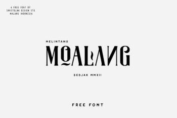 Moalang Free Font