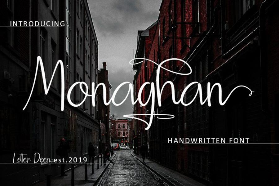 Monaghan Handlettering Font