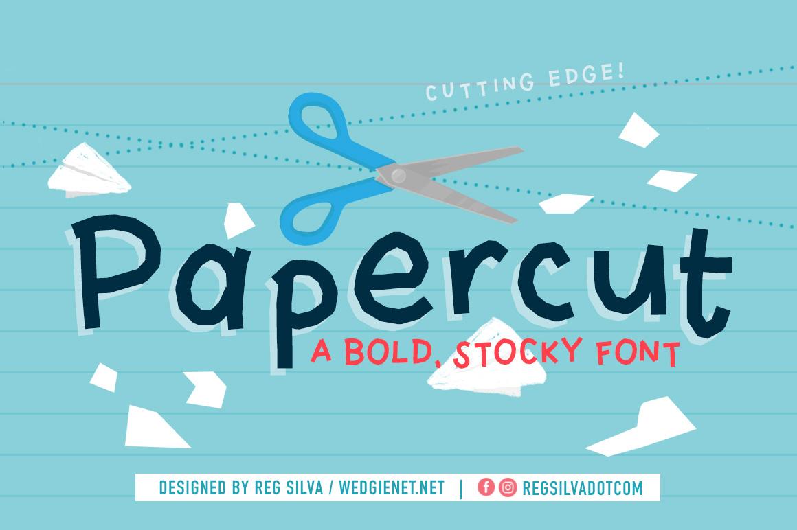 Papercut Display Font Demo