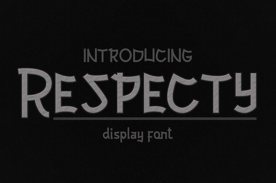 Respecty Display Font Demo