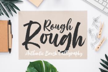 Rough Rough Script Font