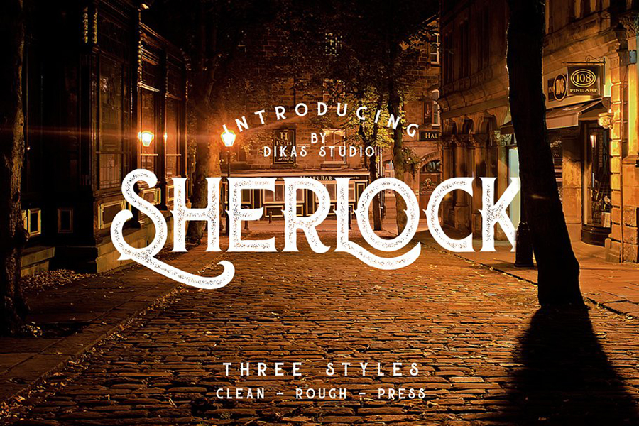 Sherlock Press Retro Font