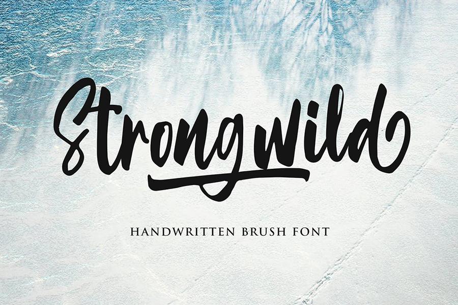 Strongwild Handwritten Brush Font