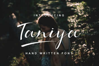 Taniya Handwritten Font Demo