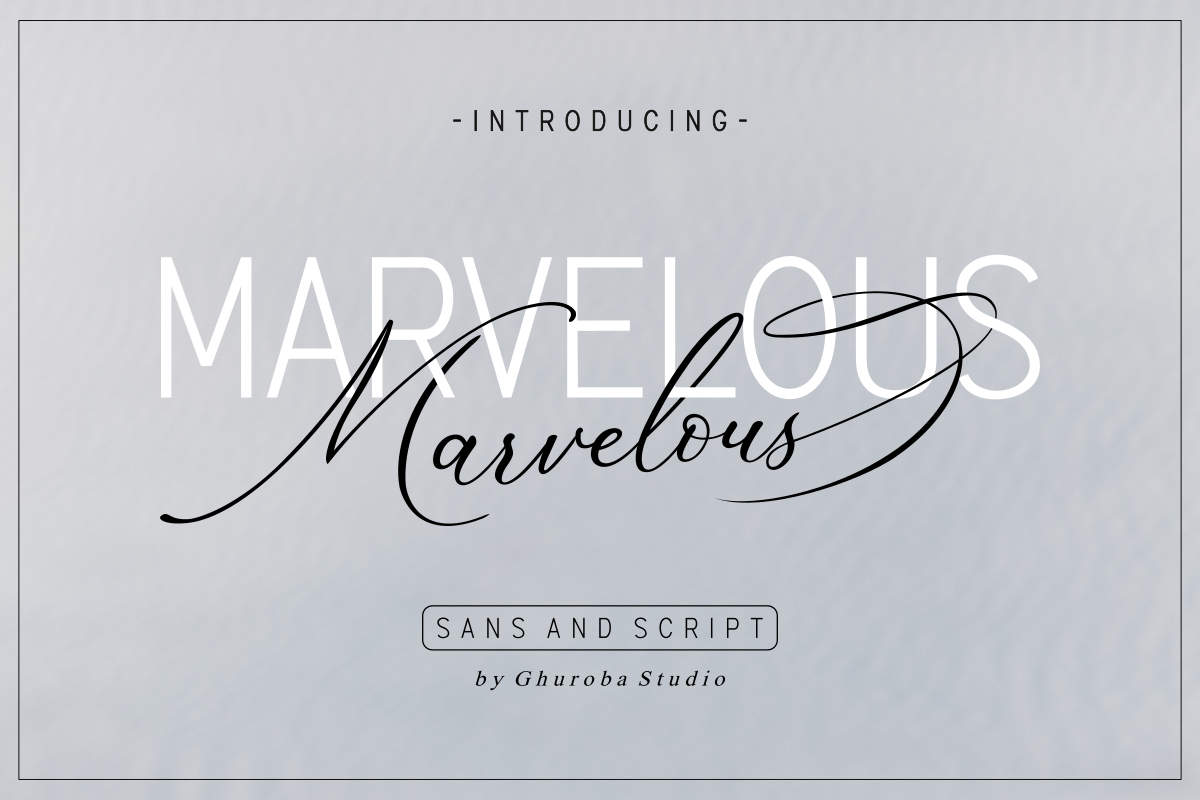 The Marvelous Font Duo